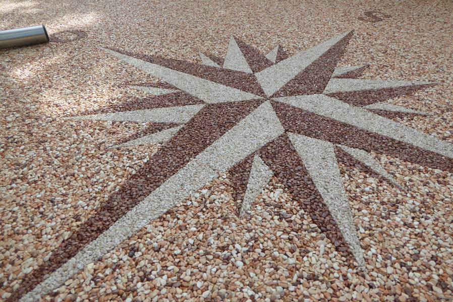 Steindesign Spiegl dekore kieselbeschichtung steinteppich
