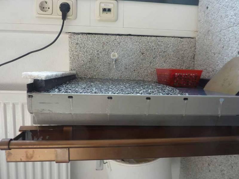 Steindesign Spiegl messetermine kieselbeschichtung steinteppich